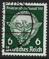 Germany stamp 1939, Third Reich, SG677/678, 6pf green + 12pf red, used (1)
